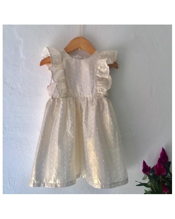 Vestido Plumeti Dorado