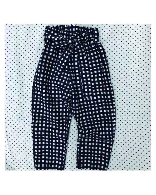 Pantalón Cuadros negro